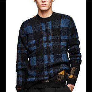 Zara Man check sweater